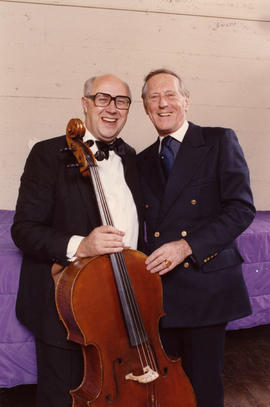 Mstislav Rostropovich and Hugh Pickett