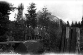 Capilano : Group on log [U.B.C. students]