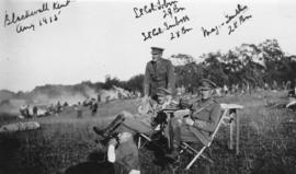 [Commanding officers overseeing 29th Battalion in Blackwell, Kent, England]