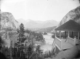 Bow River Valley from C.P.R. Hotel, Banff, Can[adian National Park]
