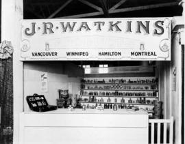 J. R. Watkins display of medicine products