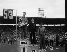 1966 Inter High Track winners on podium