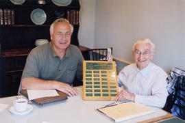 Rick Hankin (recipient in 2003) handing over the Vancouver Natural History Society's Frank Sanfor...