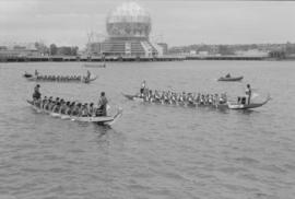 Dragon boat race on False Creek