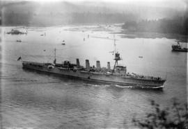 "[H.M.A.S. ""Adelaide"" entering Vancouver Harbour]"