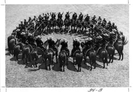 R.C.M.P. pageant : [R.C.M.P. officers on horseback]