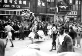 A Chinese Dragon [lion] Dance