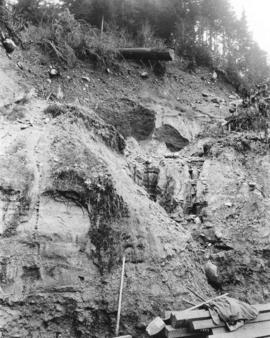 [A land slide caused by the Seymour Creek washout]