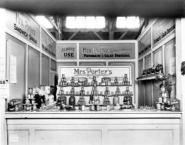 Mrs. Porter's display of spreads and dressings