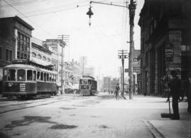 [Hastings Street, looking east from Homer Street]