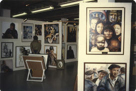 Wonderful World of Art display booth - unidentified artist