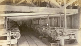 Interior of stamp mill