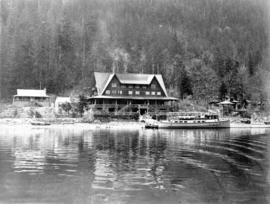 [View of the Wigwam Inn from the water]
