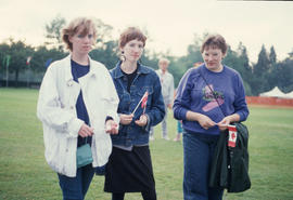 Three women at the Centennial Commission's Canada Day celebrations