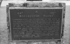 Stanley Park - Hallelujah Point Monument plaque, north edge
