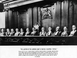 The Justices of the Supreme Court of British Columbia - MCMLVI