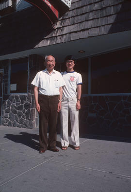 Owner of Silver Grill Restaurant in Kamloops, B.C., with Paul Yee