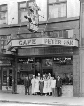 "Pete Pantages' new cafe ""Peter Pan"""