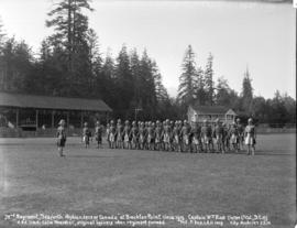 [72nd regiment of the Seaforth Highlanders of Canada assembled at Brockton Point]