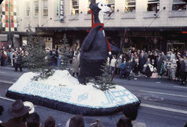 48th Grey Cup Parade, on Georgia and Howe, Jasper Canadian Ski Championships float