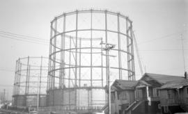 BCER [British Columbia Electric Railway] Gas Tanks [under construction-McLean Dr. between E. Seco...