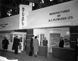 B.C. Plywoods display of Sylvaply brand plywood products