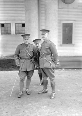 29th Battalion and Yukon Detachment [three officers]