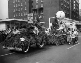 Board of Park Commissioners float in 1949 P.N.E. Opening Day Parade