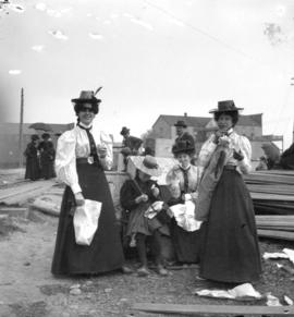 [A group of women after the fire]