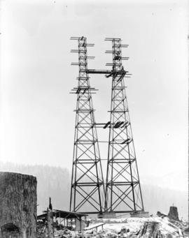 [Partially constructed electrical tower]