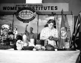 British Columbia Women's Institutes handicraft display