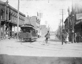 [View of Cordova Street from the corner of Cambie Street]