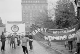International Women's Day '84 [Happy International Women's Day banner]