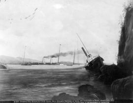 Pioneer Str. Beaver & C.P.R. Royal Mail Steamer Empress of India Off Observation Point, Vanco...