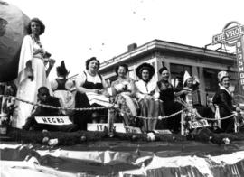 Multi-national float in P.N.E. parade