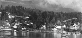 [Panoramic view of waterfront at Gibsons]