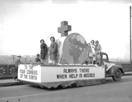 Jubilee Parade Red Cross float