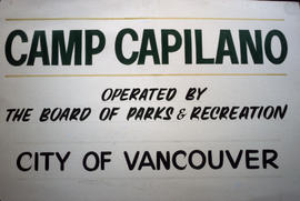 City of Vancouver Camp Capilano sign