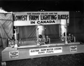 Display of electric farm water systems