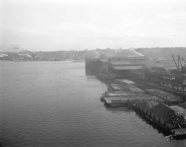 [View of False Creek looking east from the Granville Street Bridge]