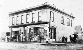 [Exterior of Webster Bros. Leading Grocers - 1270 Granville Street]
