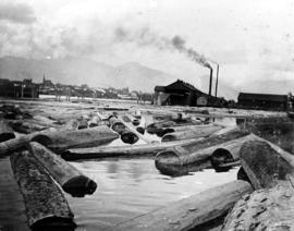 [View of Leamy and Kyle Sawmill looking east from the foot of Ash Street]
