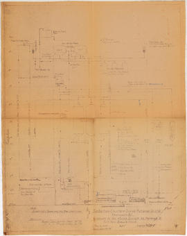 Diagram of hot water system as proposed to suit new boiler house