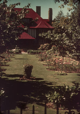 Garden and house at 1402 McRae Avenue