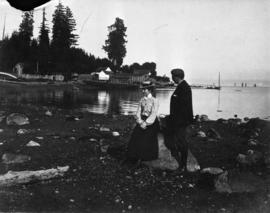 Daughter and Son-in-law of A.B. Sayer Smith, at English Bay, near Alexandra Park
