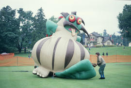 Inflatable dragon figure at the Centennial Commission's Canada Day celebration