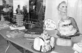 Selection of birthday cakes on display
