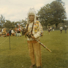 [Unidentified chief at First Nations celebrations at Brockton Oval]