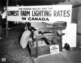 B.C. Electric display on farm electricity use