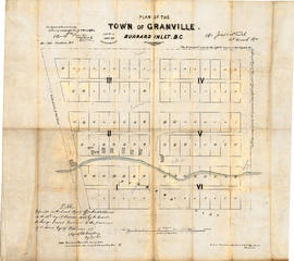 Plan of the town of Granville, Burrard Inlet, B.C.